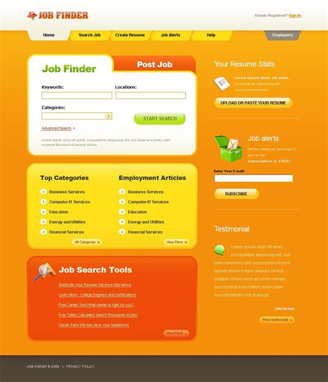 templates for portal website job portal website template web design templates