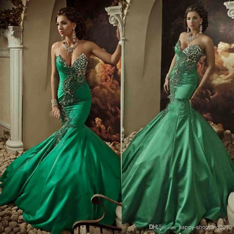 a gorgeous collection green mermaid wedding dresses
