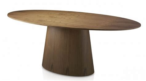 Table Ovale Bois by Table Ovale Contemporaine Bois Noyer Minka Lestendances Fr