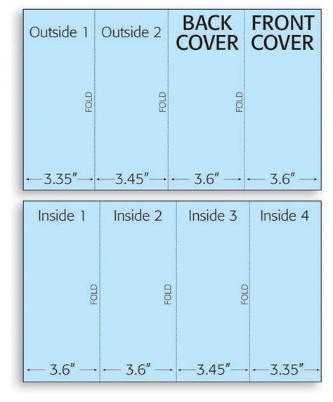 8 5 X 11 Half Fold Card Template by Gnf Brochure Folding Print Layouts
