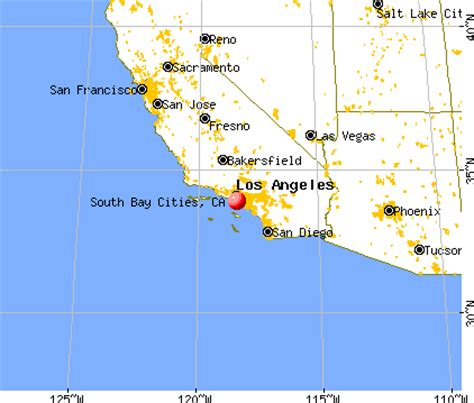 map of south california cities south bay cities california ca 90266 profile