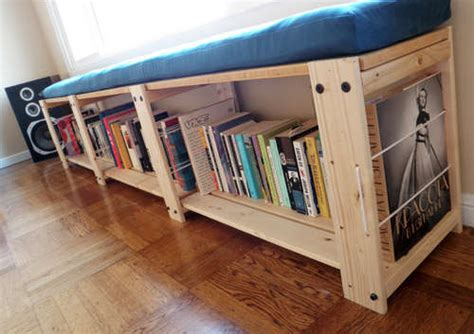 bookcase turned into bench turn an ikea shelving unit into a window seat lifehacker