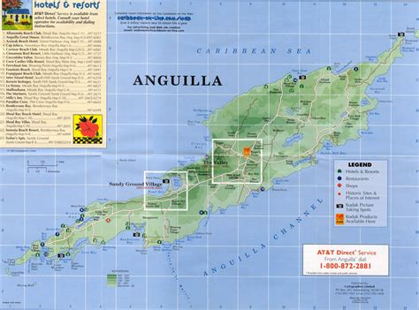 anguilla map large detailed road map and tourist map of anguilla with hotels anguilla large detailed road