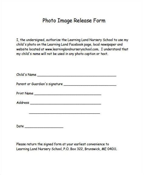 8 Image Release Form Sles Free Sle Exle Format Download Photo Print Release Form Template