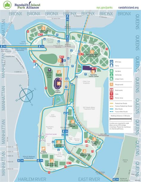 randall s island field map a slice of horticultural heaven randall s island