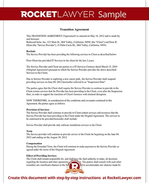 transportation contract transportation agreement