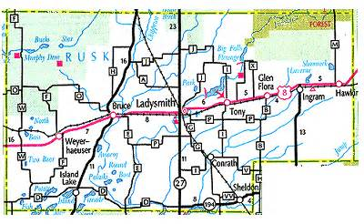 rusk county map rusk county map
