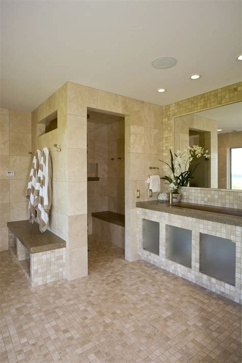 doorless walk  shower ideas bathroom contemporary