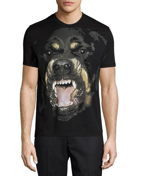 rottweiler shirt givenchy givenchy rottweiler sleeve graphic in black for lyst