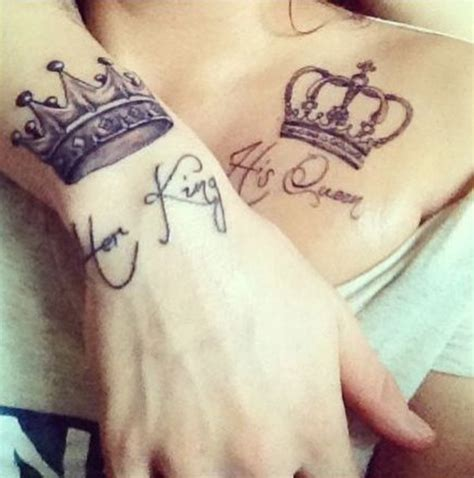 married couple tattoos ideas 101 crown designs fit for royalty