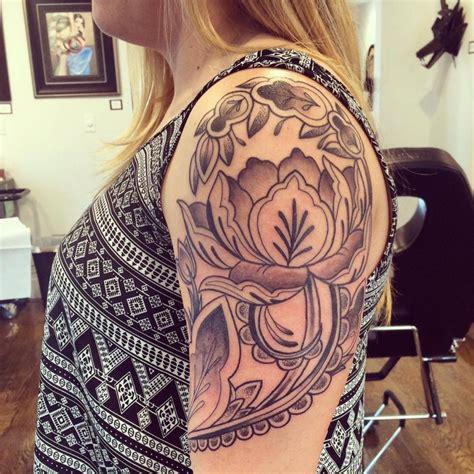san diego tattoos designs peony half sleeve done by cung guru