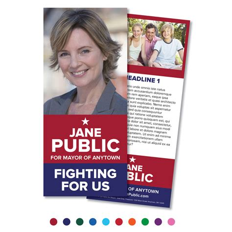 Debating Palm Cards Template by Palm Cards Political Palm Card Flyer Templates Creative