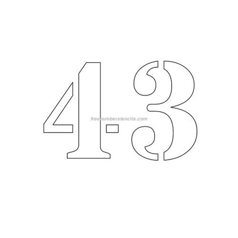 printable 4 inch numbers free 4 inch 43 number stencil freenumberstencils com