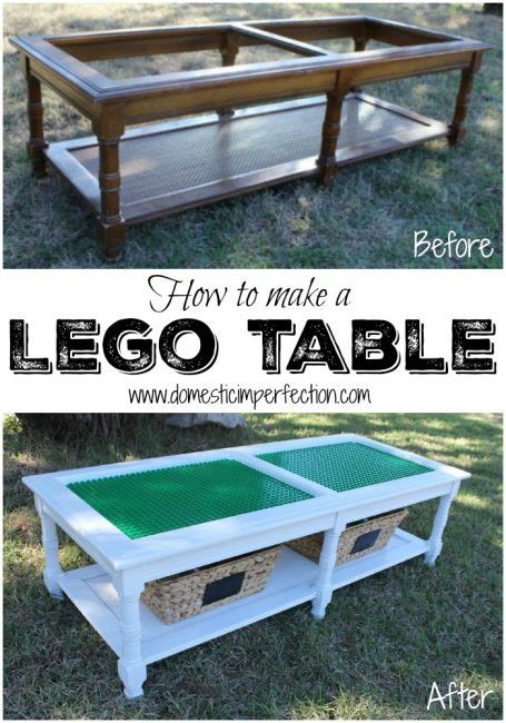 how to turn a coffee table into an ottoman how to make a lego table domestic imperfection