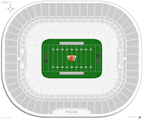 st louis rams seating chart edward jones dome football seating rateyourseats