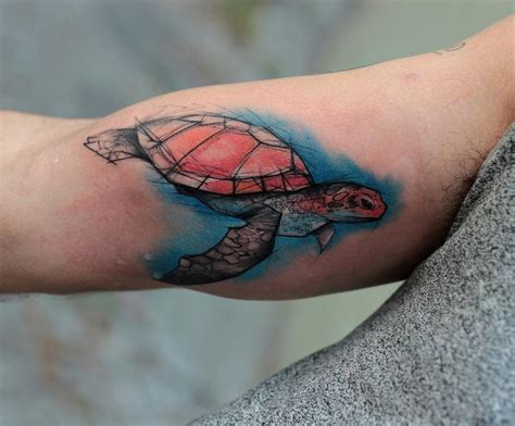 watercolor turtle tattoo watercolor turtle designs ideas and meaning