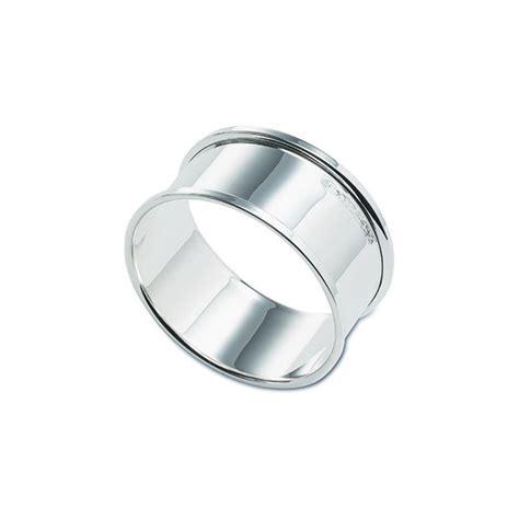 hallmarked silver plain napkin ring broadway silver