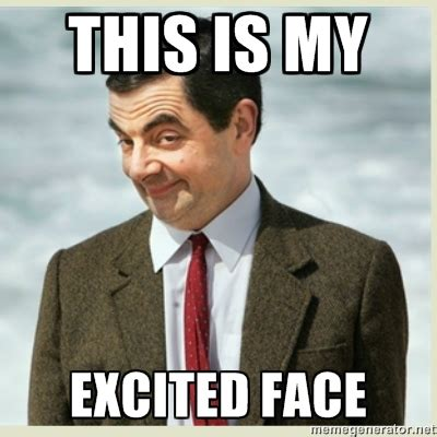 Excited Face Meme - how i feel about our class pcc stem
