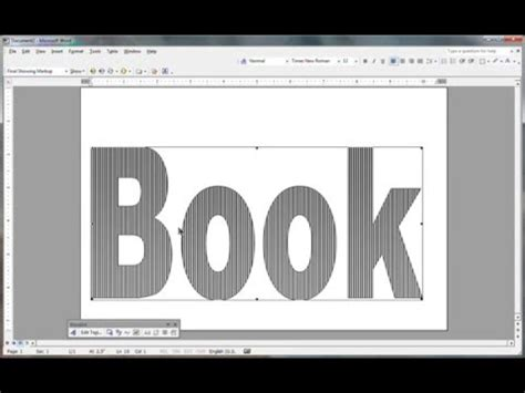 Book Folding Pattern In Msword Youtube Book Folding Template Maker