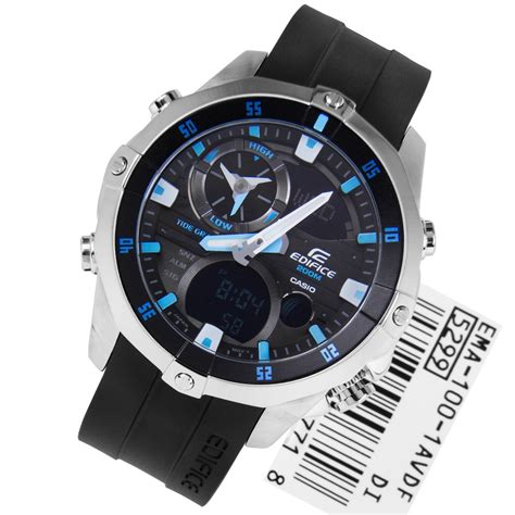 Casio Analog Casio casio edifice digital analog marine mens ema 100 1av