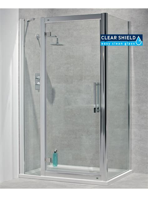 Hinged Shower Doors Avante 8mm 1500 X 900 Hinged Shower Door With Infill Panel