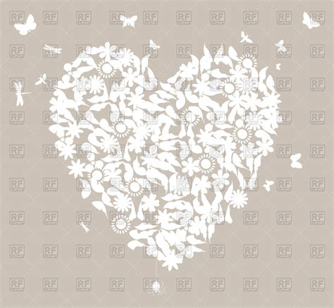 Wedding Background Clipart by White Floral Wedding On Grey Background Royalty Free