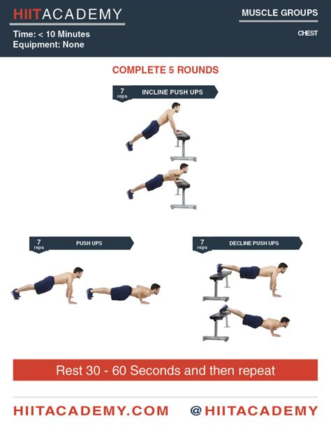 chest mania hiit workout hiit academy hiit workouts