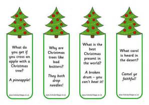 christmas tree jokes bookmarks