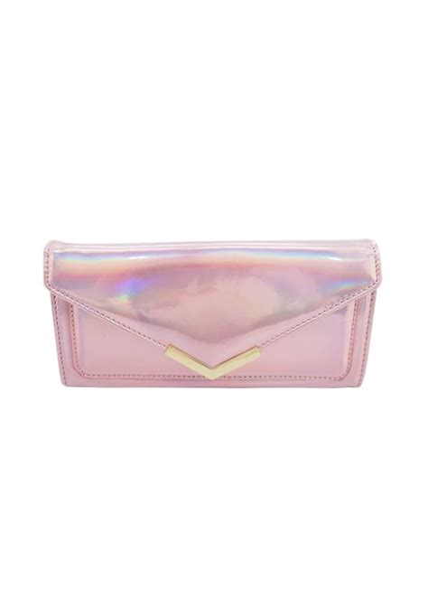 Hologram Coin Purse pink holographic purse attitude clothing