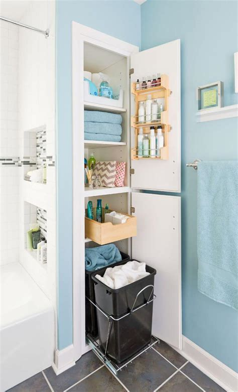 small bathroom closet ideas 25 best built in bathroom shelf and storage ideas for 2018