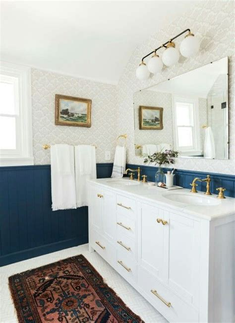 Blue Wainscoting by Wainscoting In Bathrooms 25 Stylish Ideas Digsdigs