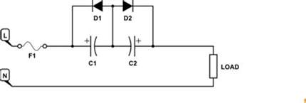 capacitor in ac circuit using parallel capacitor diode pairs to limit current in an ac circuit electrical engineering