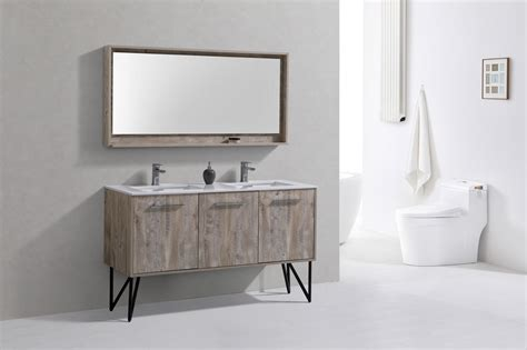 Modern Bathroom Vanity Mirror Bosco 60 Quot Modern Bathroom Vanity And Matching Mirror