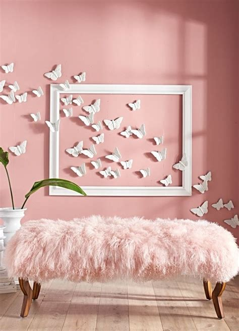 pink bedroom wall designs best 25 butterfly wall decor ideas on diy