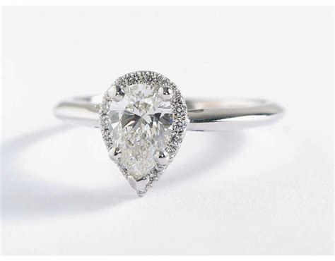 pear shaped engagement ring wedding promise
