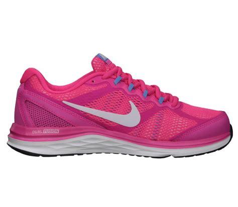 nike dual fusion run 3 womens running shoes nike dual fusion run 3 womens running shoes pink white