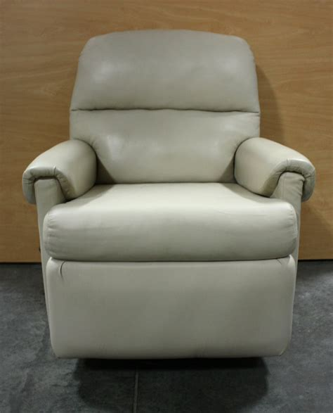 chair recliners for sale rv furniture used soft plush leather swivel rocker