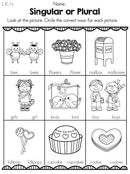 Noun Worksheets For Kindergarten by S Day Kindergarten Literacy Worksheets