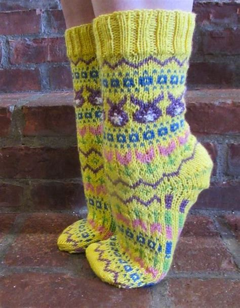 egg pattern socks awesome easter knitting patterns