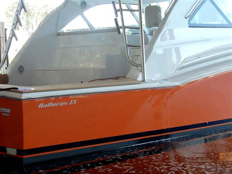 hatteras express boats for sale hatteras 45 express with custom alexseal hull color