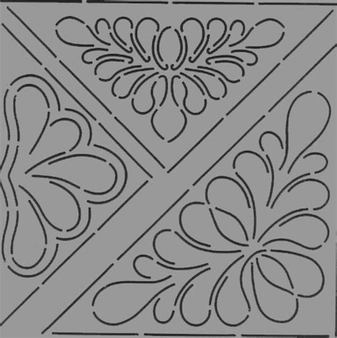Quilt Stencil Designs by Heirlooms Forever Continuous Line Quilting Stencils