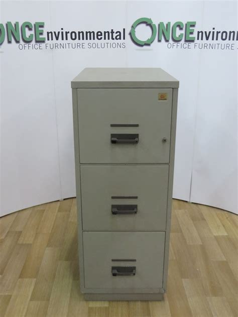 Fireproof Storage Cabinet Used Office Storage Chubb Fireproof 3 Drawer Filing Cabinet 1370h X 540w X 810d