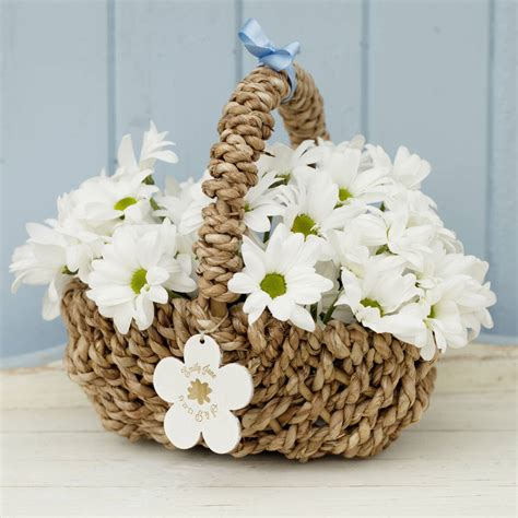 design a flower basket personalised flower girl basket by seahorse