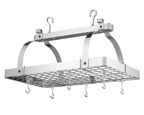 Williams Sonoma Pot Rack by Enclume Classic Rectangular Ceiling Pot Rack Williams Sonoma