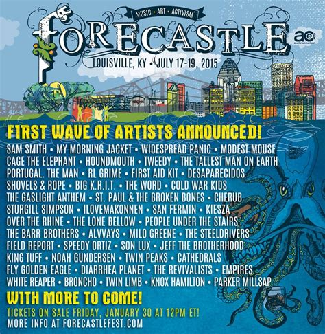 country fan 2017 lineup forecastle festival lineup modest mouse
