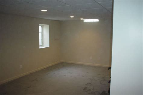 drop ceiling and recessed lights s basement