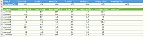 tabla de calificaciones uso de sumaproducto para armar tabla de calificaciones con