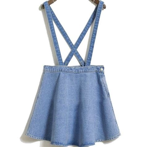 Suspender Denim Skirt denim suspender skirt f e m m e suspender