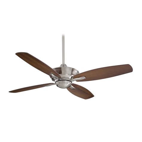 ceiling fan without light in brushed nickel finish f513