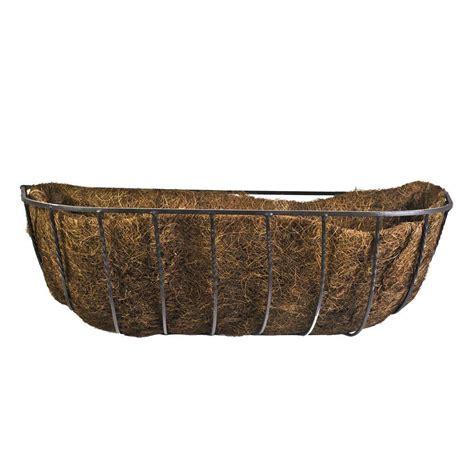 cobraco 24 in canterbury horse trough steel planter